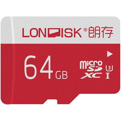 5. LONDISK 4K 64GB Micro SD Card U3 Class10 Micro SDXC Card Memory Cards