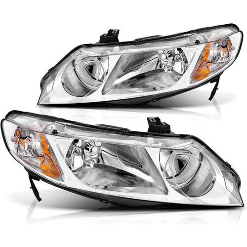 9. Headlight Assembly for 2006-2011 Honda Civic Sedan 4-Door Headlight