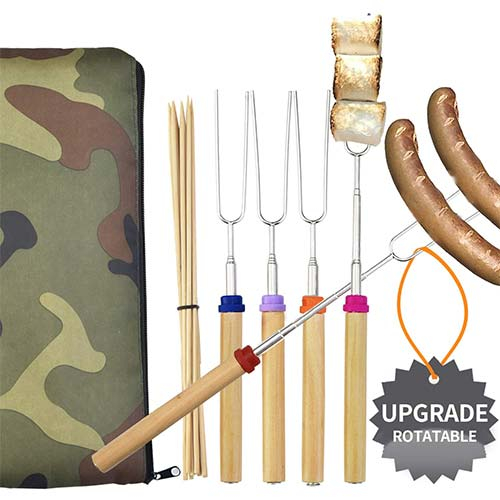 10. Wup Extendable Rotating Marshmallow Roasting Sticks