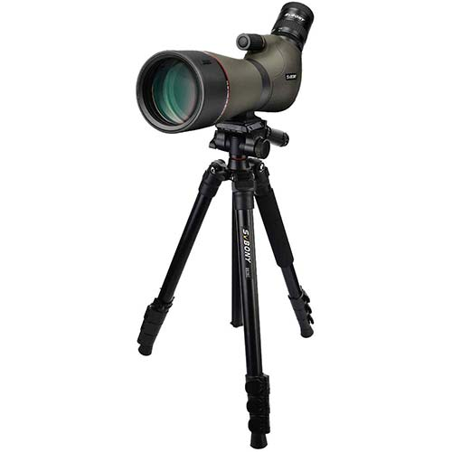 10. SVBONY SV46 Spotting Scope HD Dual Focus IPX7 Waterproof 20-60x80 Long Range Angled Telescope