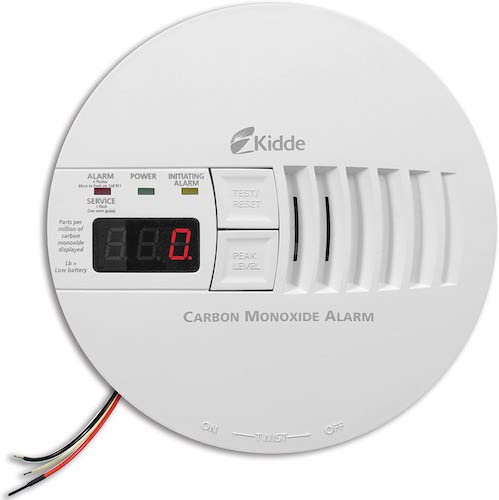 9. Kidde - 21006407 AC Hardwired Operated Carbon Monoxide Detector Alarm