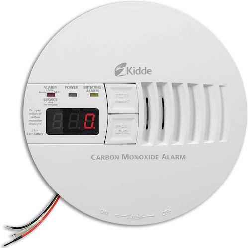 9. Kidde - 21006407 AC Hardwired Operated Carbon Monoxide Detector Alarm