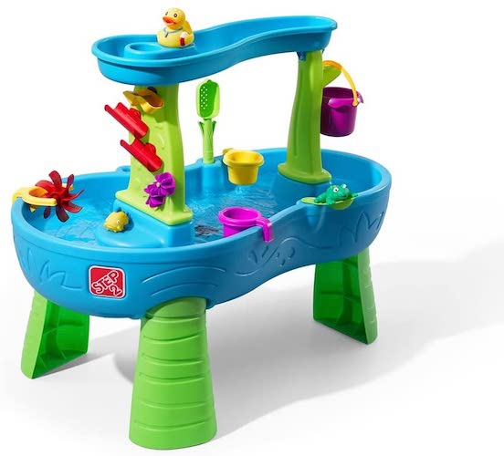 1. Step2 Rain Showers Splash Pond Water Table | Kids Water Play Table with 13-Pc Accessory Set