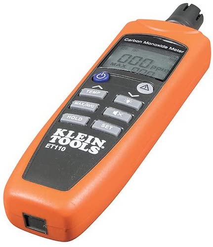 6. Klein Tools ET110 CO Meter, Carbon Monoxide Tester and Detector