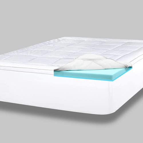 8. ViscoSoft 4 Inch Pillow Top Gel Memory Foam Mattress Topper King | Serene Dual Layer Mattress Pad