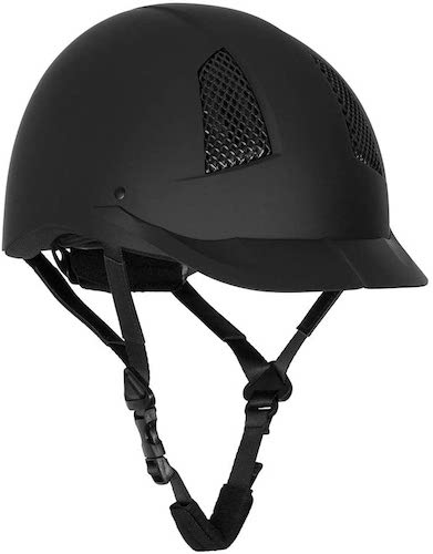 8. TuffRider Starter Horse Riding Safety Helmet | Schooling Protective Head Gear for Equestrian Riders - Black