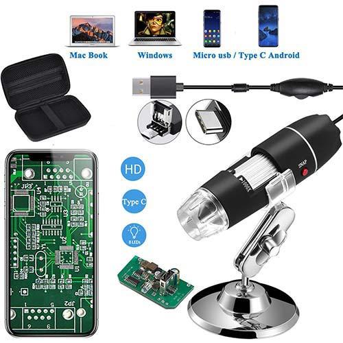 5. Jiusion Original 40-1000X USB Microscope