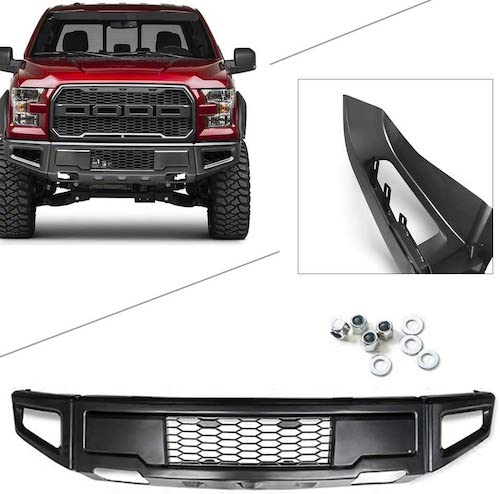 10. GZYF Heavy Duty Steel Front Bumper Face Bar Compatible with Ford F-150 2015-2017