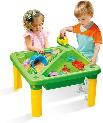 9. Ama-store Sand Water Table with Beach Toy Set, Tower Water Table Set for Toddler over Fun Sand Toys Set