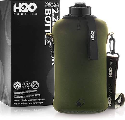 8. H2O Capsule 2.2L Half Gallon Water Bottle