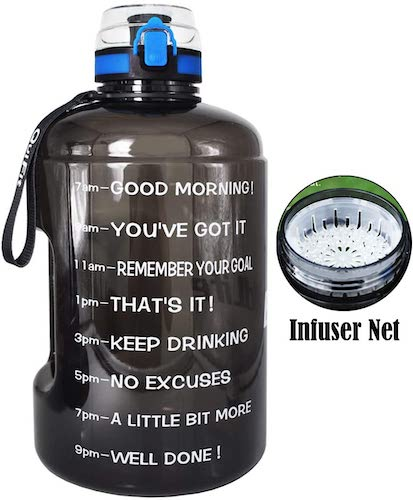 10. BuildLife Gallon Motivational Water Bottle