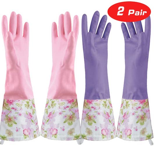 7. KINGFINGER Rubber Latex Waterproof Dishwashing Gloves