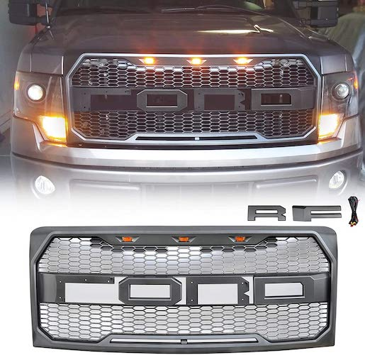2.VZ4X4 Front Grill for Ford F150 Raptor Style 2009-2014