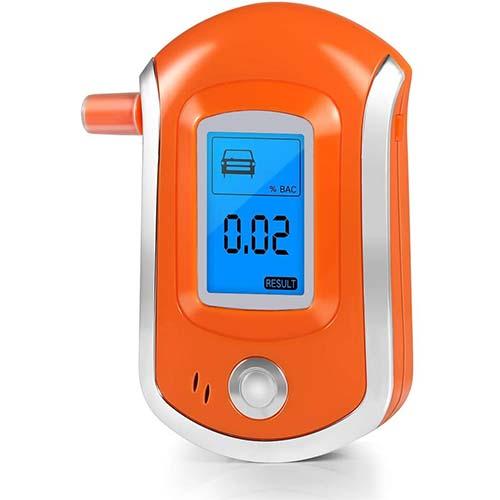 3. Breathalyzer, Professional Breath Alcohol Tester, Digital Battery Power Alcohol Detector