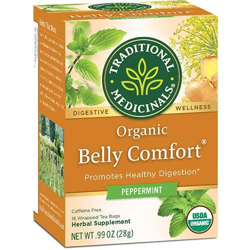 9. Traditional Medicinals Organic Belly Comfort Peppermint Digestive Tea