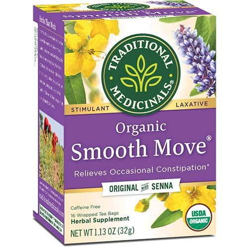 7. Traditional Medicinals Organic Smooth Move Senna Laxative Tea