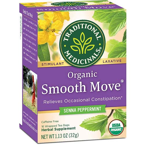 10. Traditional Medicinals Organic Smooth Move Peppermint Tea
