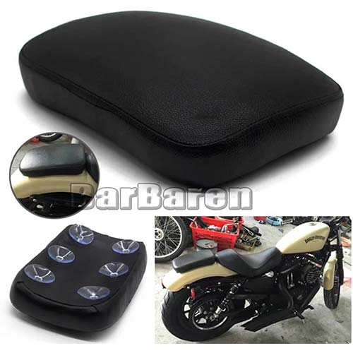 5. Pillion Pad Seat 6 Suction Cup For Harley Dyna Sportster Softail Touring XL 883 1200