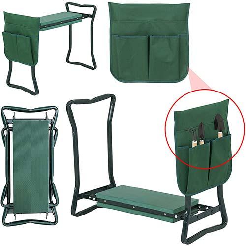 9. LEMY Garden Kneeler Seat Multiuse Portable Garden Bench Garden Stools Foldable Stool