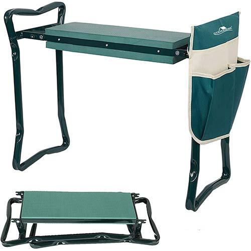 3. LUCKYERMORE Folding Garden Kneeler and Seat Garden Bench