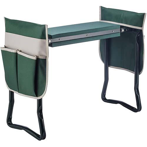 10. 4-EVER Garden Kneeler Seat Multiuse Foldable Garden Bench
