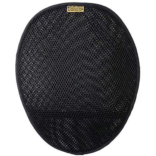 2. Motorcycle Circulator Pad for long ride cool air ventilation and comfort with non-skid bottom and elastic strap attachment   SKWOOSH