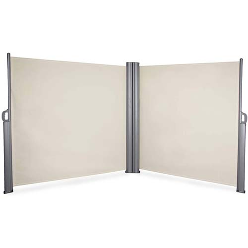 10. BELLEZE 19.6 x 5.2ft Commercial Double Side Awning Privacy Screen Retractable Divider Garden Terrace Outdoor