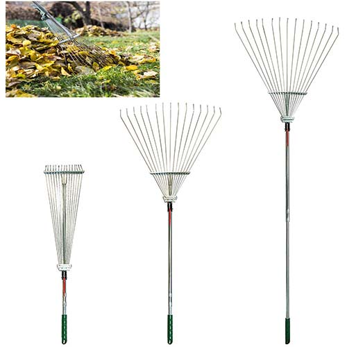 9. Lavo Home Professional Telescopic Rake Heavy Duty Folding Rake Expandable with Multiple Heights