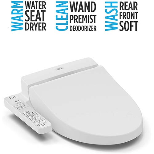 3. TOTO SW2034#01 C100 Electronic Bidet Toilet Cleansing Water, Heated Seat, Deodorizer, Warm Air Dryer, and PREMIST