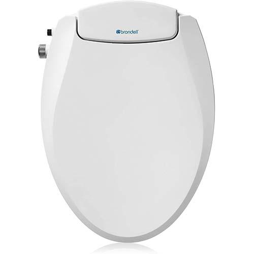 8. Brondell Swash Ecoseat Non-Electric Bidet Toilet Seat, Fits Elongated Toilets, White