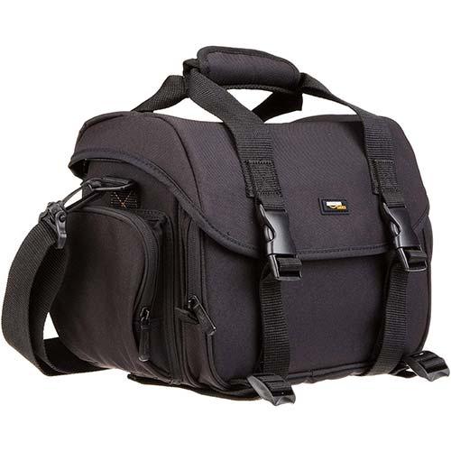 4. AmazonBasics Large DSLR Camera Gadget Bag - 11.5 x 6 x 8 Inches