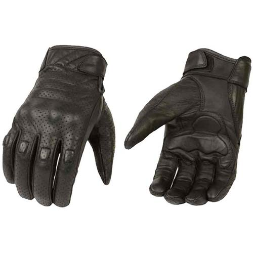 4. Milwaukee Leather Men's Premium Leather Perforated Cruiser Gloves MG7500 (M)