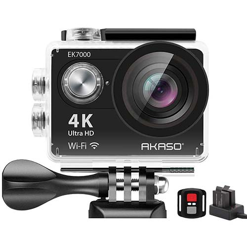 8. AKASO EK7000 4K WiFi Sports Action Camera Ultra HD Waterproof DV Camcorder 12MP 170 Degree Wide Angle
