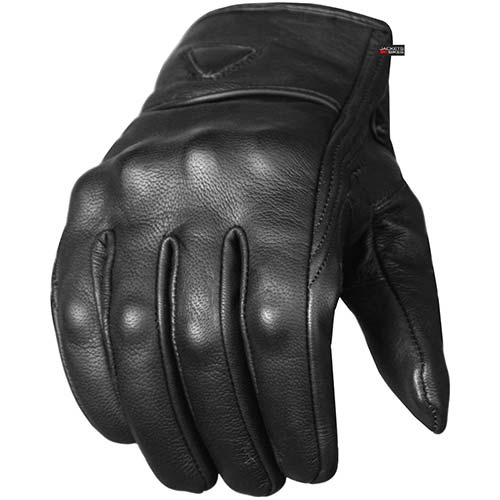 9. Men's Premium Leather Street Motorcycle Protective Cruiser Biker Gel Gloves