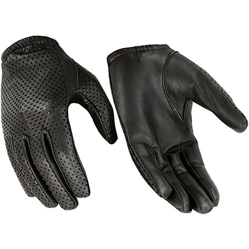 2. Hugger Breathable Full-Finger Touchscreen Durable Leather Gloves - Driving, Motorcycle, Riding, Patrol, Shooting