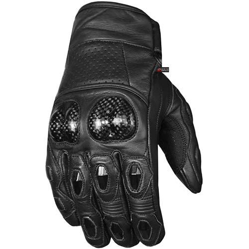 1. Men's Premium Leather Motorcycle Cruising Street Palm Sliders Biker Gloves XL