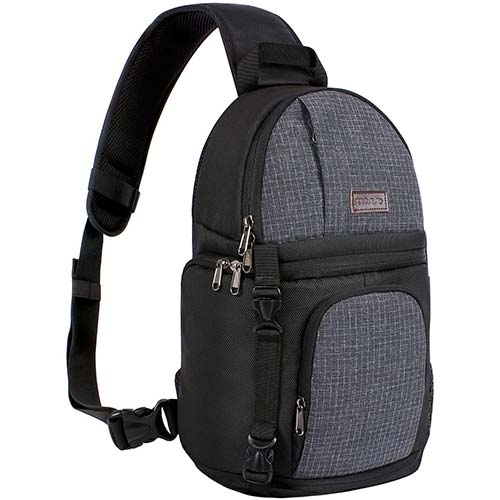 8. MOSISO Camera Sling Bag, DSLR/SLR/Mirrorless Case Water Repellent Shockproof Photography Camera Backpack