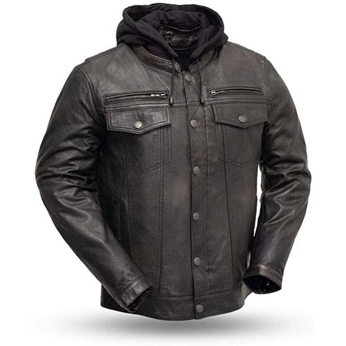 4. First MFG Co. - Vendetta - Men's Protective Biker Motorbike Motorcycle Leather Jacket