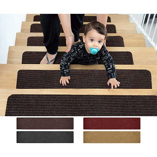 1. EdenProducts Patent Pending Non Slip Carpet Stair Treads, Set of 15, Rug Non Skid Runner