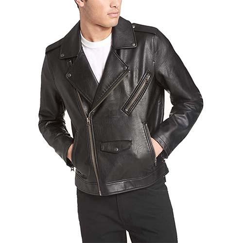 3. Levi's Men's Faux Leather Motorcycle Jacket
