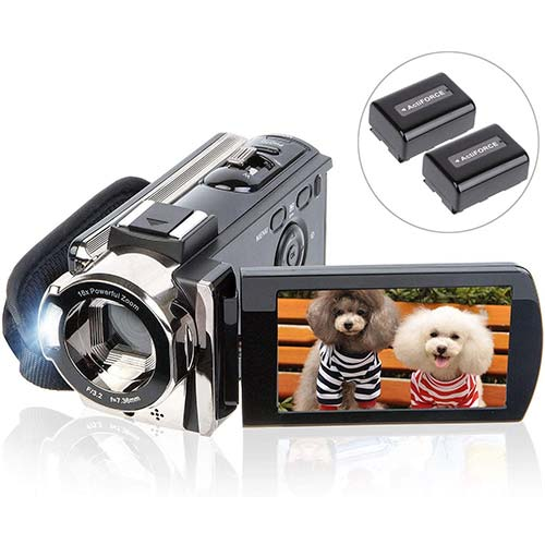 1. Video Camera Camcorder Digital YouTube Vlogging Camera Recorder kicteck Full HD 1080P
