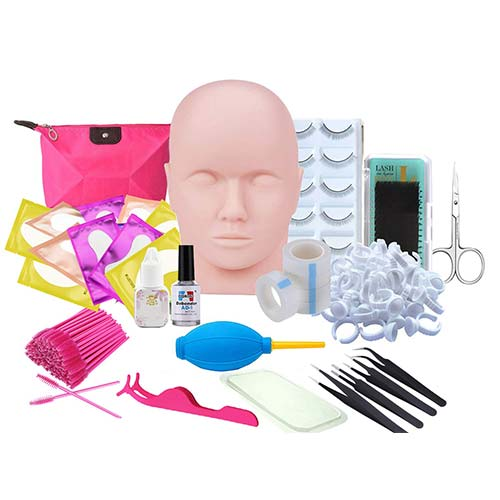 8. Eyelash Extension kit, Missicee Professional Eyelashes Kit False Eyelashes Extension Glue Tool Practice Kit