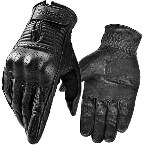 8. INBIKE Motorcycle Genuine Leather Gloves Men's Protective Motorbike Gloves