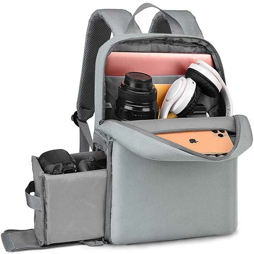 10. CADEN DSLR Camera Backpack Bag with Laptop Compartment 14