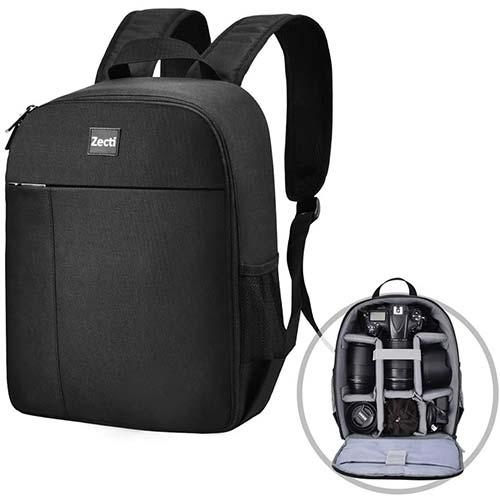 5. Camera Backpack Zecti Professional Camera Bag Waterproof Canvas Photography Backpack, Camera Case