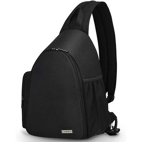 9. CADeN Camera Bag Sling Backpack, Camera Case Backpack Waterproof with Tripod Holder