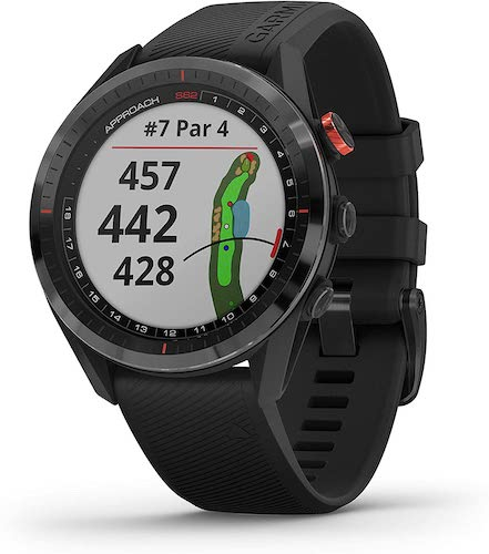 9. Garmin Approach S62 Bundle, Premium Golf GPS Watch with 3 CT10 Club Tracking Sensors