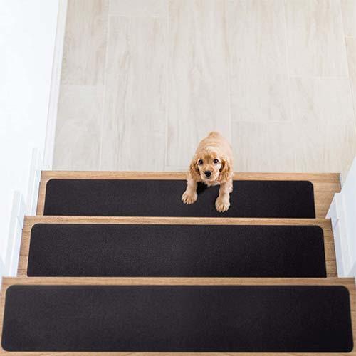 2. Delxo Non Slip Carpet Stair Treads, Set of 14, Rug Non Skid Runner for Grip and Beauty