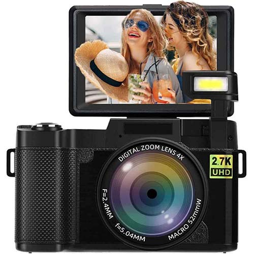 4. Digital Camera Vlogging Camera 2.7K 24MP Full HD Camera for YouTube