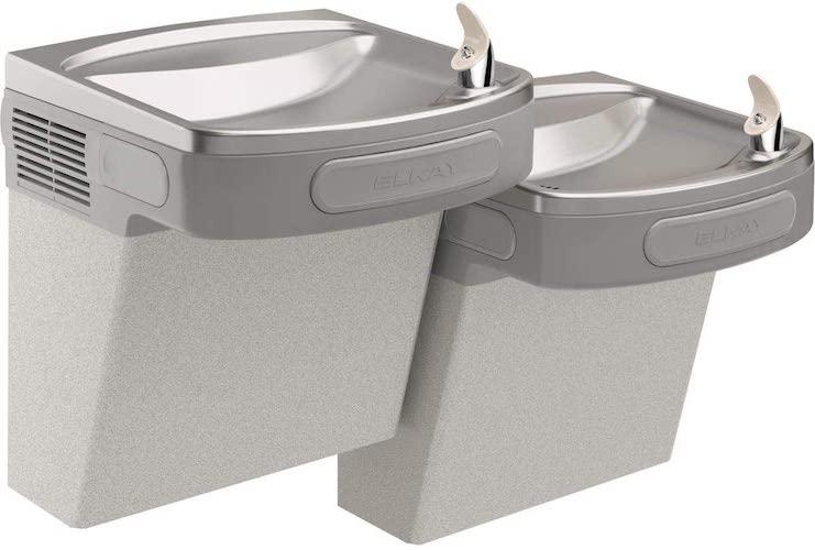 4. Elkay EZSTL8LC Wall Mount Bi-Level ADA Versatile Cooler, Non-Filtered, 8 GPH,
